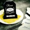 Menuekarte zum Krimi-Spiel Dinner