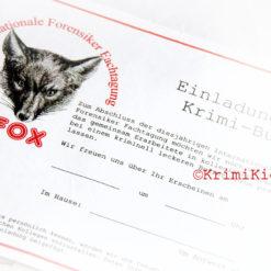 Fox Krimi-Buffet-Spiel Einladung